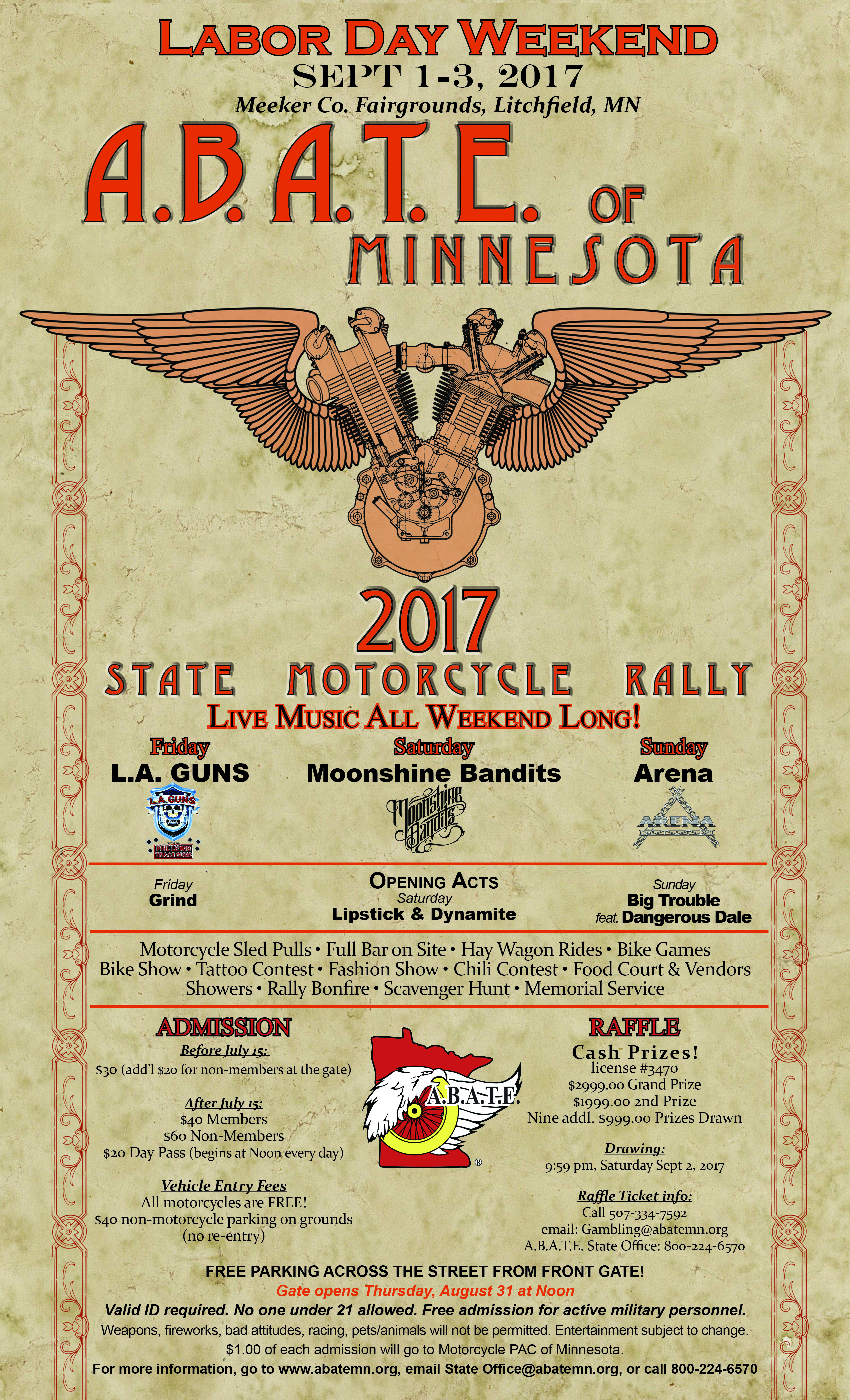 2017 ABATE of MN State Rally Poster